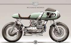 Moto Guzzi Cafe Racer design RUA MACHINES - Capelos Garage #motorcyclesdesign #diseñodemotos | caferacerpasion.com