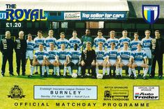 Reading 2 Burnley 1 in Aug 1993 at Elm Park. The programme cover #Div2