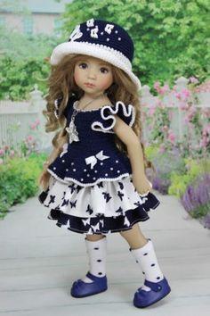 "Ооак наряд для куклы 13"" Дианна Effner Little Darling."