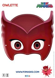 Make your own Owlette mask! #pjmasks #owlette #disneyjunior