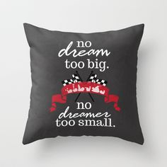 turbo.. no dream too small Throw Pillow by studiomarshallarts - $20.00