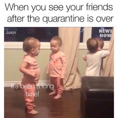 Miss my friends. Reunited and it feels so good! meme for husband Tag a friend Funny Shit, Funny Baby Memes, Funny School Memes, Very Funny Jokes, Funny Video Memes, Really Funny Memes, Stupid Funny Memes, Funny Relatable Memes, Funny Facts