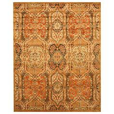 Too old school? Hand-tufted Piazza Gold Wool Rug (8'9 x 11'9)