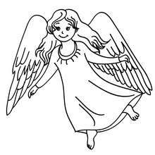Christmas angel with holly coloring page - Coloring page - HOLIDAY ...