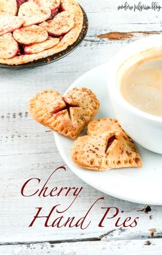 Nothing says 'I love you' like heart-shaped cherry hand pies. These bite-sized cherry pies are fruity, sweet, chewy, and made to delight! Perfect for your Valentine.