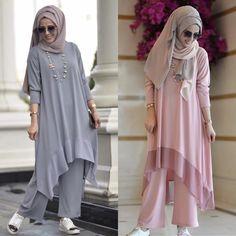 Pinterest: just4girls Modern Hijab Fashion, Abaya Fashion, Muslim Fashion, Fashion Dresses, Modele Hijab, Designer Party Wear Dresses, Sleeves Designs For Dresses, Kurta Designs Women, Modest Wear