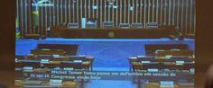 TV Senado anuncia posse de Temer antes de votação do impeachment
