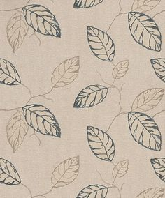 Clear Spirit (CSA-006-02-2) - Grandeco Wallpapers - A large scale, all over wallpaper design featuring leaves with trailing branches. Shown here in black and taupe on a beige background. Other colourways are avialble. Please request a sample for a true colour match. Paste the wall. Pattern repeat is 64cm.