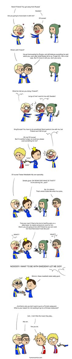 OH! the tragic yet sweet love story of Sweden and Aland will they ever be allowed to be together?