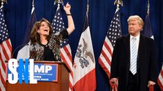 Watch: Tina Fey Returns As Sarah Palin to Endorse Donald Trump, And It's Hilarious  - SNL  ... This skit is great to laugh at, but if the real Trump gets into office it will be no laughing matter ... It will be a TRAGEDY!