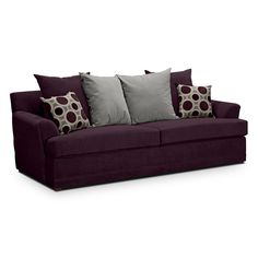 Berkeley Plum Upholstery Queen Sleeper Sofa | Furniture.com
