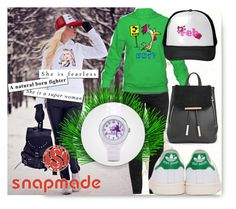 """Snapmade II/5"" by samravelagic ❤ liked on Polyvore featuring Basler, adidas Originals and Boohoo"