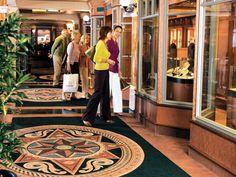 The Queen Victoria - The Royal Arcade for shopping #Cruise