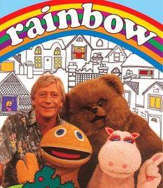 Vintage Rainbow Badge - British Kids TV Show 1980s Childhood, My Childhood Memories, Childhood Images, Sweet Memories, Rainbow Badge, Rainbow Songs, My Memory, Vintage Tv, Vintage Kids