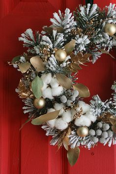 After Christmas wreath...