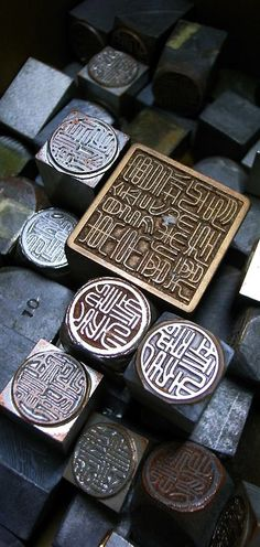 Chinese metallic stamps