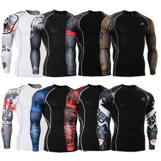# Sale for Muscle Men Compression Tight Skin Shirt Long Sleeves3D Prints MMA GYM Rashguard Fitness Base Layer Weight Lifting Male Tops Wear [cVjLUmoH] Black Friday Muscle Men Compression Tight Skin Shirt Long Sleeves3D Prints MMA GYM Rashguard Fitness Bas