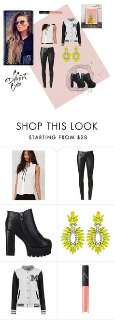 """Chunky Boots"" by mya0nah21 on Polyvore featuring Yves Saint Laurent, Elizabeth Cole and NARS Cosmetics"