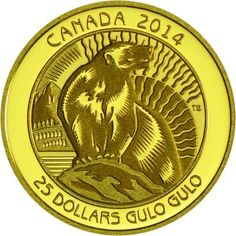 25 Dollar Gold Vielfraß PP