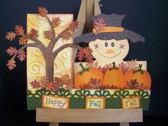 ~~~ Happy Fall Y'all ~~~ - Scrapbook.com - Cute card. #scrapbooking #cardmaking