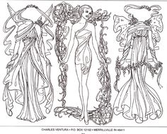 Phee McFaddell Coloring Pages Winter | Paper Doll Coloring Pages