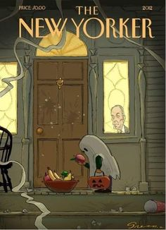 The New Yorker Cover ~ Halloween Contest: The Winner! By Chris Greco Retro Halloween, Healthy Halloween, Halloween Prints, Halloween Pictures, Holidays Halloween, Happy Halloween, Halloween Decorations, Halloween Night, The New Yorker