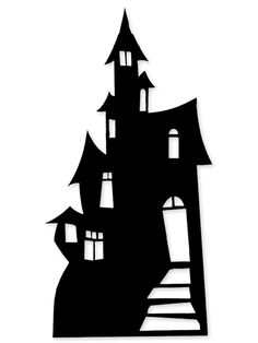 Haunted House Cardboard Cutout - Halloween Party Ideas - Party Ark