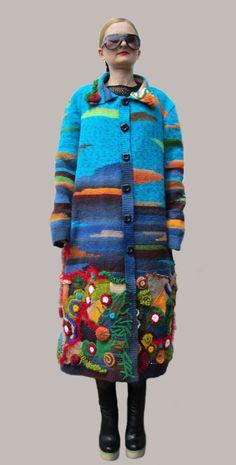 """Одежда Пальто """"Подводный мир"""" (Большие размеры)"""
