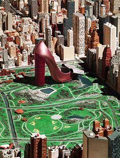 Maquette Love New York. un objet des geants dans la maquette : mettant en valeur la différence d'échelle