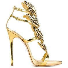 Giuseppe Zanotti Design Giuseppe Zanotti Design 'Cruel' Metallic... (2,810 CAD) ❤ liked on Polyvore featuring shoes, sandals, metallic, metallic sandals, giuseppe zanotti, metallic shoes, giuseppe zanotti shoes and leather sandals