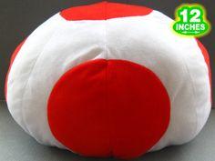 Super Mario Bros Toad Hat Plush Cap MLHT MLPL8036