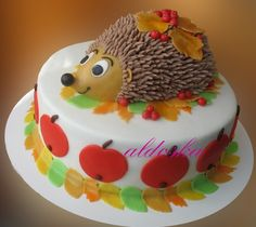 cute Hedgehog cake by sweetspiriteva Cakes To Make, Fancy Cakes, Cute Cakes, How To Make Cake, Cake Icing, Fondant Cakes, Cupcake Cakes, Enchanted Forest Cake, Sonic The Hedgehog Cake