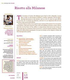 Risotto alla Milanese from Rocco DiSpirito's Now Eat This! Italian cookbook.