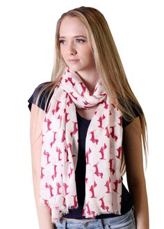 Women's Cute Bella Dachshund Doxie Dog Fashion Scarf (Purple) at Amazon Women's Clothing store: Fashion Scarves