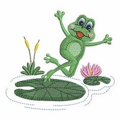 Cute Frogs 4 - 4x4 | What's New | Machine Embroidery Designs | SWAKembroidery.com Ace Points Embroidery