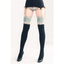 Breezy Hyacinth Stockings from Amoralle. Scouring the Internet for lovely stockings I come across this site. Then, out of all the stockings displayed, I fall in love with this pair. Easily the most expensive at over $200. I guess I'm leaving this for the wish list.