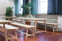 Helsinki vocational college / Design by Sistem Interior Architects Interior Architects, Helsinki, Design Projects, Interior Design, School, Table, Furniture, Home Decor