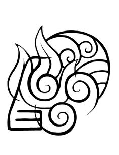 Made for a friend, is a combination of all the element symbols from the TV show Avatar The Last Airbender Avatar Elements Tattoo Avatar Aang, Avatar The Last Airbender Art, Team Avatar, Avatar Tattoo, Naruto Tattoo, Simbolos Tattoo, Body Art Tattoos, New Tattoos, Girl Tattoos