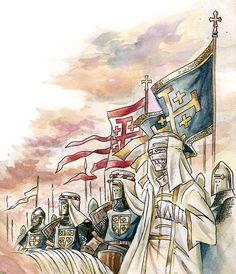 Nem mesmo a doença impediu Balduíno IV de liderar o exército cristão contra as investidas de Saladino.