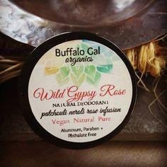 Patchouli Rose VEGAN DEODORANT // Wild Gypsy Rose // Paraben, Phthalate, Aluminum Free Cream Deoedoroant //Plant Based Cruelty Free