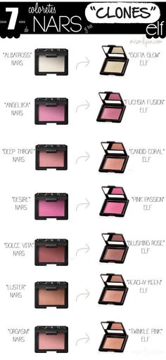 50 Ideas makeup dupes nars make up Beauty Make-up, Beauty Dupes, Beauty Hacks, Beauty Products, Elf Makeup Products, Revlon Products, Natural Beauty, Natural Makeup, Beauty Women