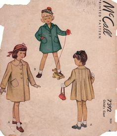 McCall's girls pattern 1940's