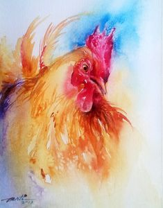"Most people wonder what kind of person watercolors a chicken but I'm just like ""YOU ARE AN INSPIRATION SIR"""