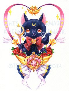 : I designed a sailor moon themed tattoo for the...