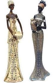 "Képtalálat a következőre: ""figurines ladies african"" African Women, African Fashion, African Figurines, African American Artwork, Clay Art Projects, African Paintings, African Dolls, Goddess Art, Africa Art"
