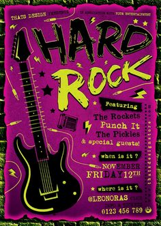 Hard Rock Flyer Template Psd 2 and Customize your Photoshop psd flyer templates Design easily! Save time money with our Psd Templates
