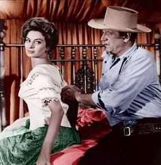Capucine & John Wayne, North To Alaska, such a good movie