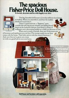 The spacious Fisher Price Doll House (1979)