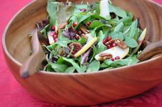 Today I'm excited to share with you my Pear Pomegranate Salad recipe with Orange Vinaigrette. This delicious antioxidant-rich salad recipe...