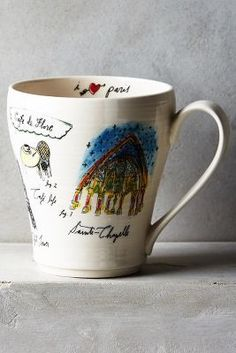 LINEA CARTA CITY VIGNETTE MUG  $12 by Anthropologie at Anthropologie         Available Colors: paris ,london ,san francisco ,new york city ,sydney ,tokyo ,rome Available Sizes: Mug DETAILS Stoneware. Dishwasher and microwave safe. Imported